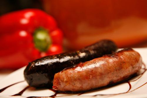 Chorizo y morcilla criollos. Restaurante La Cabaña Argentina