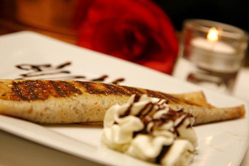 Panqueque de dulce de leche. Restaurante La Cabaña Argentina
